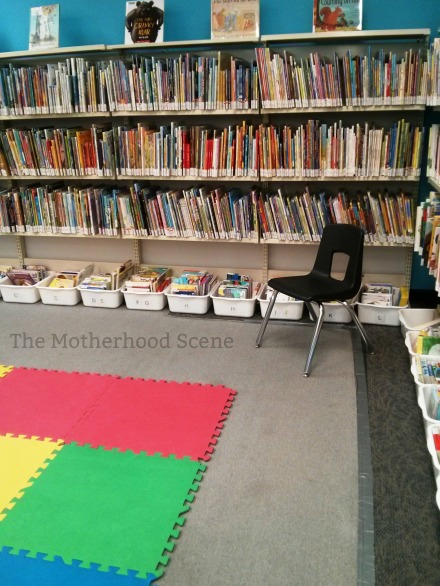 The area where storytime at the Whitby library, Rossland Branch, takes place
